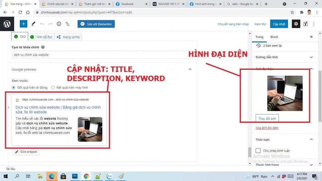 Cách Sửa lỗi chia sẻ link facebook, Zalo