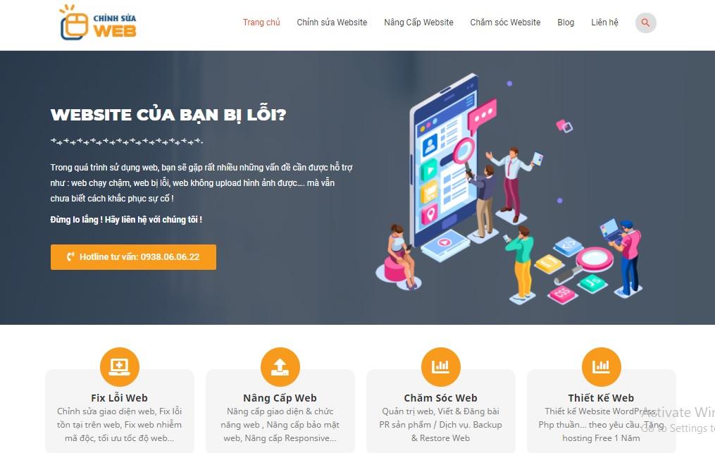 Chinsuaweb.com cung cấp dịch vụ uy tín, chất lượng
